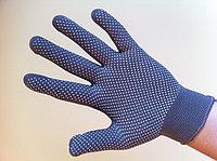 Перчатки нейлоновые серые 13 кл. вязкости с ПВХ покрытием, фото 1