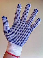 Перчатки нейлоновые белые с ПВХ покрытием , фото 1