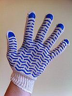 Перчатки Х/Б с ПВХ покрытием (волна), фото 1