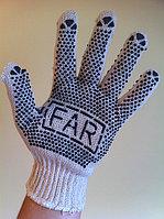 Перчатки Х/Б белые с ПВХ покрытием (FAR), фото 1