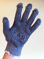 Перчатки Х/Б серые с ПВХ покрытием (FAR), фото 1