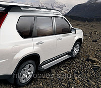 Родные пороги / подножки на Nissan X-trail 2009-2011 (2 ВИДА)