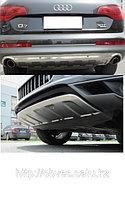 Передняя и задняя накладки на бампера на Audi Q7 рестайлинг