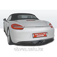Спортивная выхлопная система Remus на Porsche Boxster S Type 981