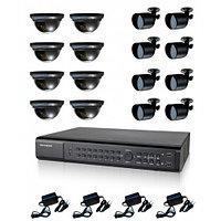 AHD готовый комплект видеонаблюдения из 16 камер 8х2, фото 1