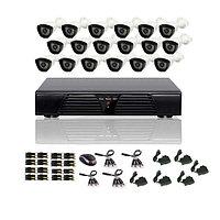 AHD готовый комплект видеонаблюдения из 16 уличных камер, фото 1