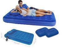 Двухспальный матрас Bestway с 2 подушками и ручным насосом