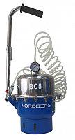 Установка пневматическая для прокачки тормозной системы и системы сцепления, объем 5 л. NORDBERG BC5