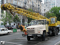 "Автокран КС-4562 ""Газпром Кран"" (Камышин) грузоподъемностью 20 т смонтирован на шасси Краз стрела 10 м"