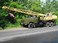 "Автокран КС-4561 ""Газпром Кран"" (Камышин) грузоподъемностью 16 т смонтирован на шасси Краз стрела 14 м"