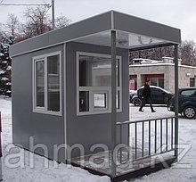 """Посты охраны, домик охранника, охранная будка, КПП. Модель """"С проходной"""". Размер1,8м х 2,0м х 2,2м"""