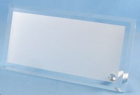 Стеклянная фоторамка для сублимации (BL-08),размер: 120х230х10мм