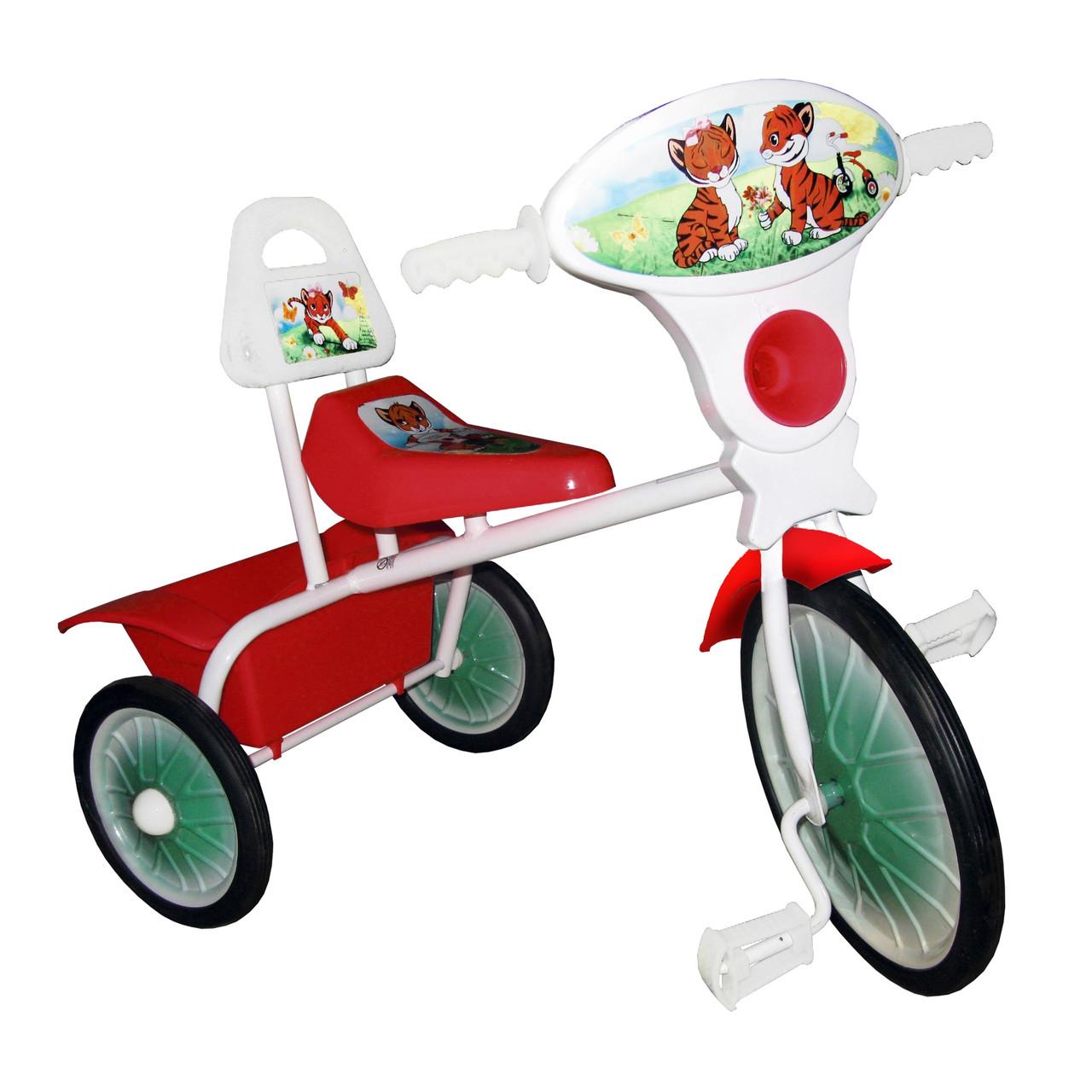 Велосипед трехколесный мод. 527-501-09 (со спинкой, с кузовком, без ограждения, без доп. подножки, без управля