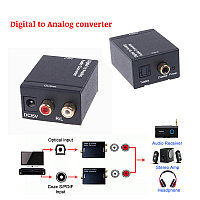 Аудио адаптер (Конвертер) из Coaxial + S/PDIF в Analog RCA / Optical SPDIF Toslink Coaxial Digital to Analog R