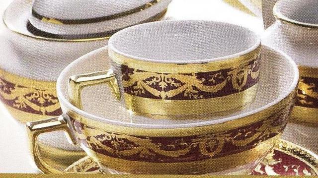 Цептер Фарфор Империал Голд Бордо дополнение к кофейному сервизу