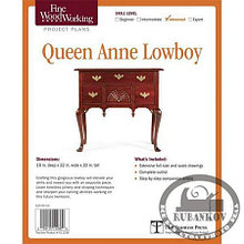 План столика Fine Woodworking Queen Anne Lowboy Plan