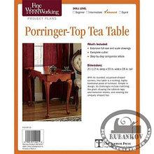 План столика Fine Woodworking Porringer-Top Tea Table Plan