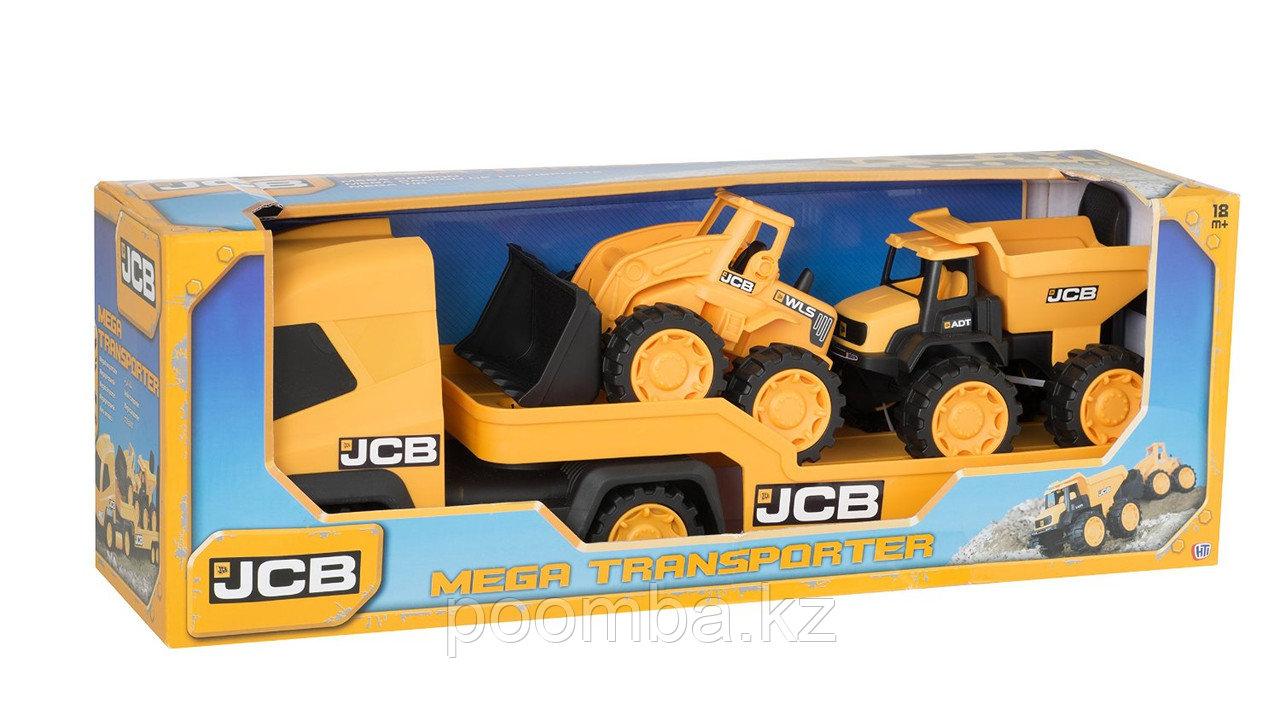Строительная техника JCB - Фура с двумя машинками, 1:32