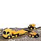 Строительная техника JCB - Фура с двумя машинками, 1:32, фото 2