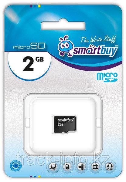Карта памяти Micro SD Smartbuy 2 GB (без адаптеров)