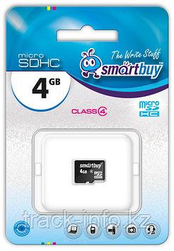 Карта памяти Micro SDHC Smartbuy 4GB class 4 (без адаптеров)