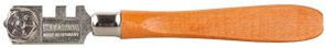 Стеклорез KRAFTOOL роликовый, 6 режущих элементов, с деревянной ручкой