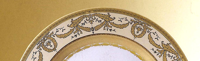 Цептер Фарфор Империал Голд-креме столовый сервиз на 12 персон