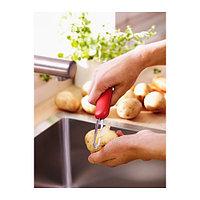 СТЭМ Нож для чистки картофеля, красный, белый/черный