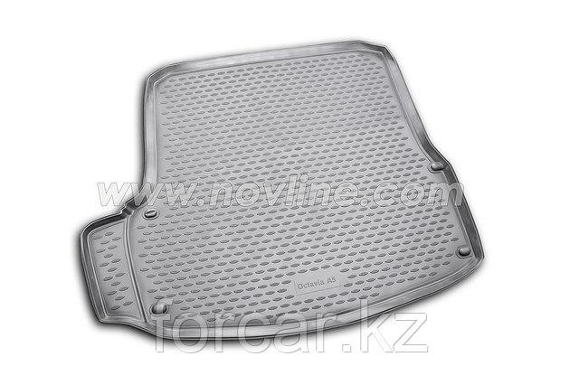 Коврик Novline в багажник Skoda Octavia A7 2013->  (полиуретан)