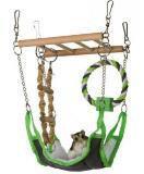 Trixie 6298 Подвесной мост с гамаком для грызунов - 17х22х15 см, фото 1