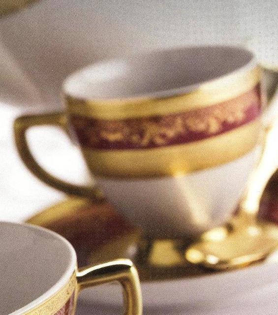 Цептер Фарфор Роял Голд Бордо дополнительные наборы. Чашки для Espresso