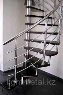 Винтовые ограждения для лестниц из нержавеющей стали, фото 2