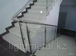 Ограждения из нержавеющей стали со стеклом, фото 2