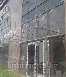 Навесы из нержавеющей стали со стеклом, фото 2