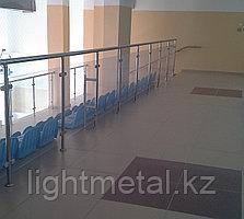 Ограждения из нержавеющей стали с использованием орг стекла, фото 2