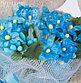 Зайка Ми в голубом платье с букетом незабудок, фото 3