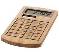 Калькулятор бамбуковый под нанесение логотипа