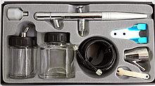 АЭРОГРАФ верхний бак, сопло 0,3 мм, с принадлежностями 8 предм. MACTAK 678-108