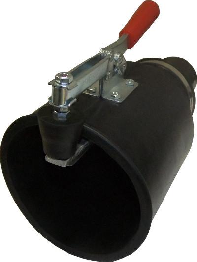 Насадка резиновая круглая с зажимом на шланг D=75 мм NORDBERG AN075RC
