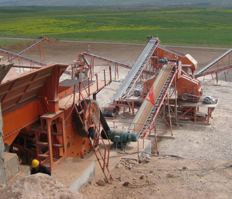 Дробильно-сортировочная установка производительностью в 400-500 тонн в час из Китая в Казахстане