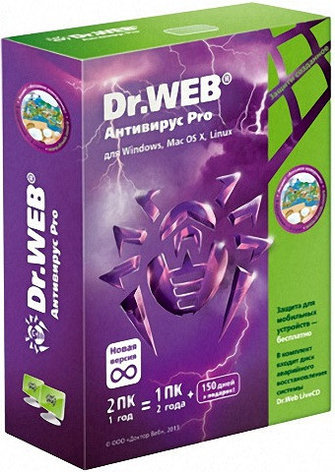 Dr.Web Антивирус 2 ПК / 12 мес, фото 2