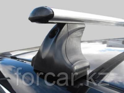 Багажник Atlant для гладкой крыши с креплением в штатные места, аэродинамические  дуги, опора E, фото 2