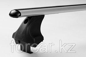 Багажник Atlant для гладкой крыши с креплением за дверной проем, аэродинамические  дуги, опора E