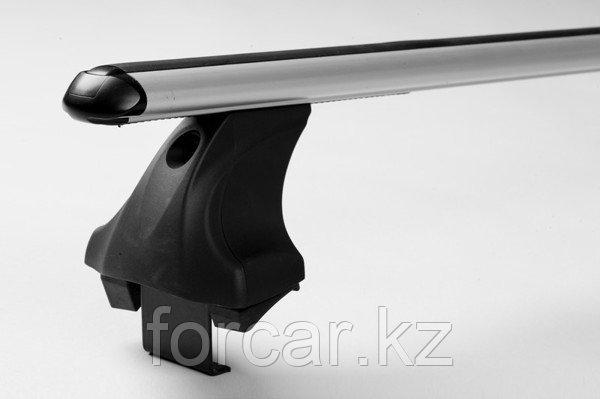 Багажник Atlant для гладкой крыши с креплением за дверной проем, аэродинамические  дуги, опора E, фото 2