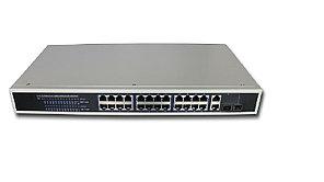 Poe switch Коммутатор Hi-NET PS2226-24P-400 24+2G Web managed POE Switch