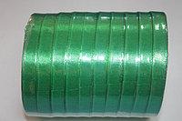 Лента атласная (зелёная 019) 10 мм. - 25 ярдов (22,8 метра)