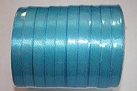 Лента атласная (голубая 020) 10 мм. - 25 ярдов (22,8 метра)