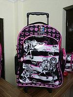 """Школный рюкзак Монстр Хай """"на колесиках """" ( Monster High Школа Монстров ) , фото 1"""