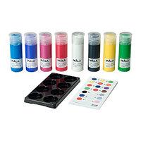 Краски МОЛА 8 шт. разные цвета ИКЕА, IKEA, фото 1
