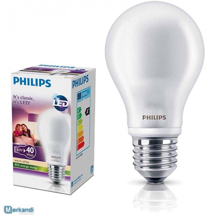 Лампа светодиодная Philips LEDBulb  6W  6500K